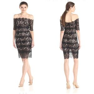 WOW COUTURE Off Shoulder Sheer Lace Sexy Dress L
